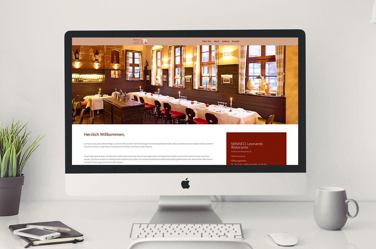 Minneci - Webdesign