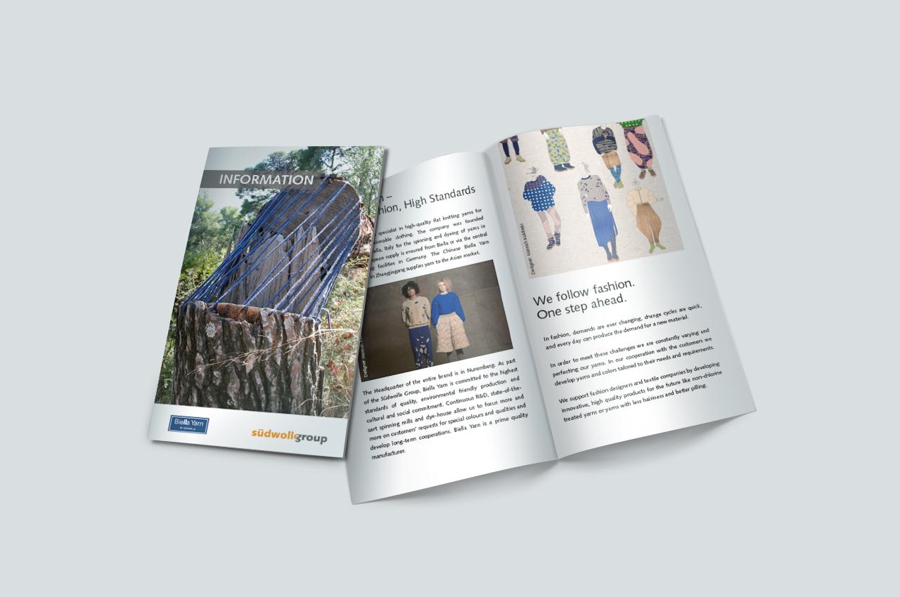 Broschüre Suedwollegroup / Biella Yarn
